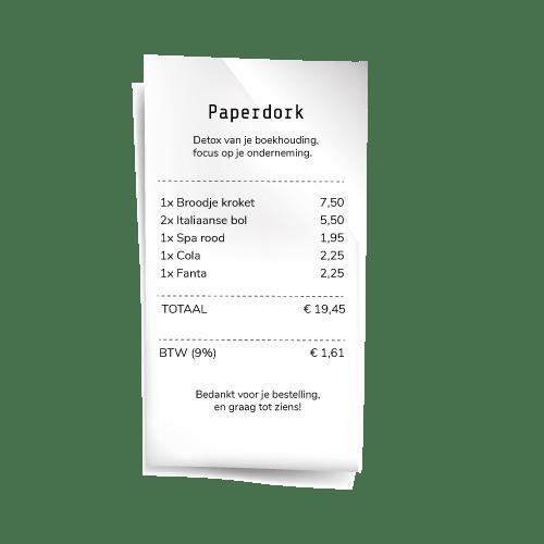 Paperdork Bonnetjesscanner voor ZZP