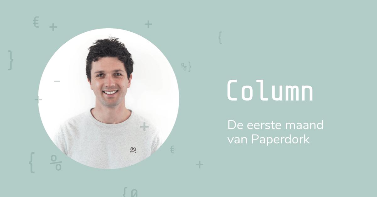 Column Cijfermeester Marc - De eerste maand van Paperdork