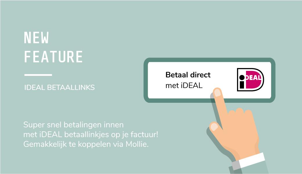 Nieuwe feature: iDEAL betaallinks op je factuur in boekhoudprogramma Paperdork   ZZP boekhouding   Online boekhouden   ZZP boekhoudprogramma