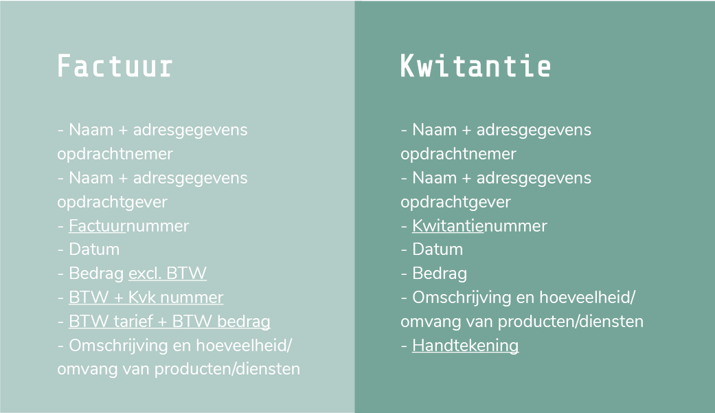 Kwitantie voorbeeld download | wat is het verschil tussen een factuur en een kwitantie?
