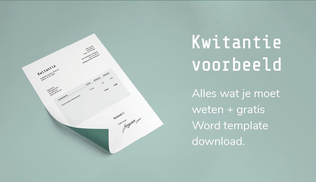 Kwitantie voorbeeld | gratis word template download