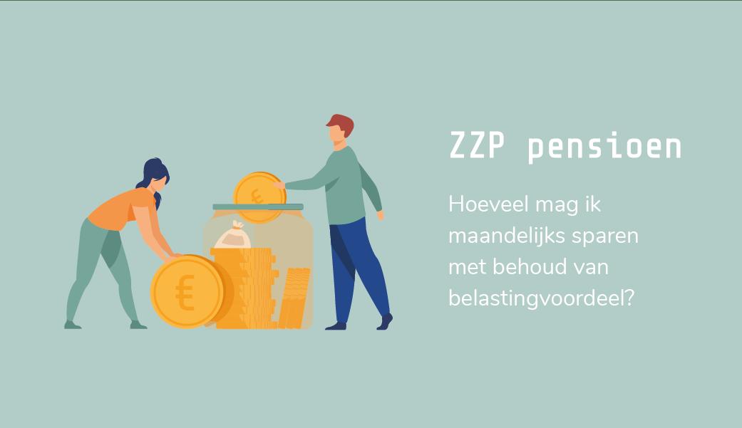 ZZP pensioen | hoeveel per maand | maandelijks pensioen zzp | jaarruimte pensioen | belastingvoordeel | design by Freepik