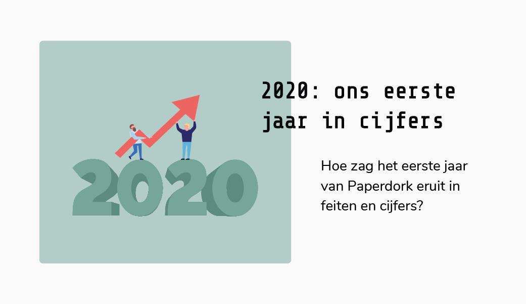 2020: eerste jaar van Paperdork in cijfers